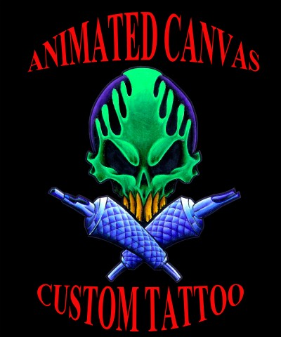 Animated Canvas Custom Tattoo Logo
