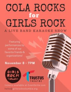 Cola Rocks for Girls Rock Flyer